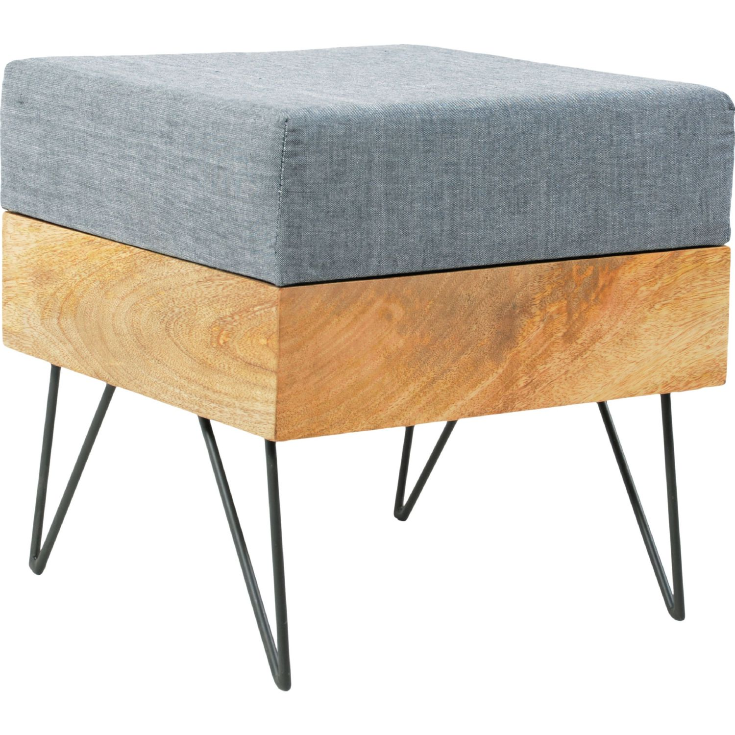 Moe s Home Collection Pouf Square Ottoman in Natural Linen Cotton Fabric on  Metal Legs. Moe s Home Collection BZ 1026 24 Pouf Square Ottoman in Natural