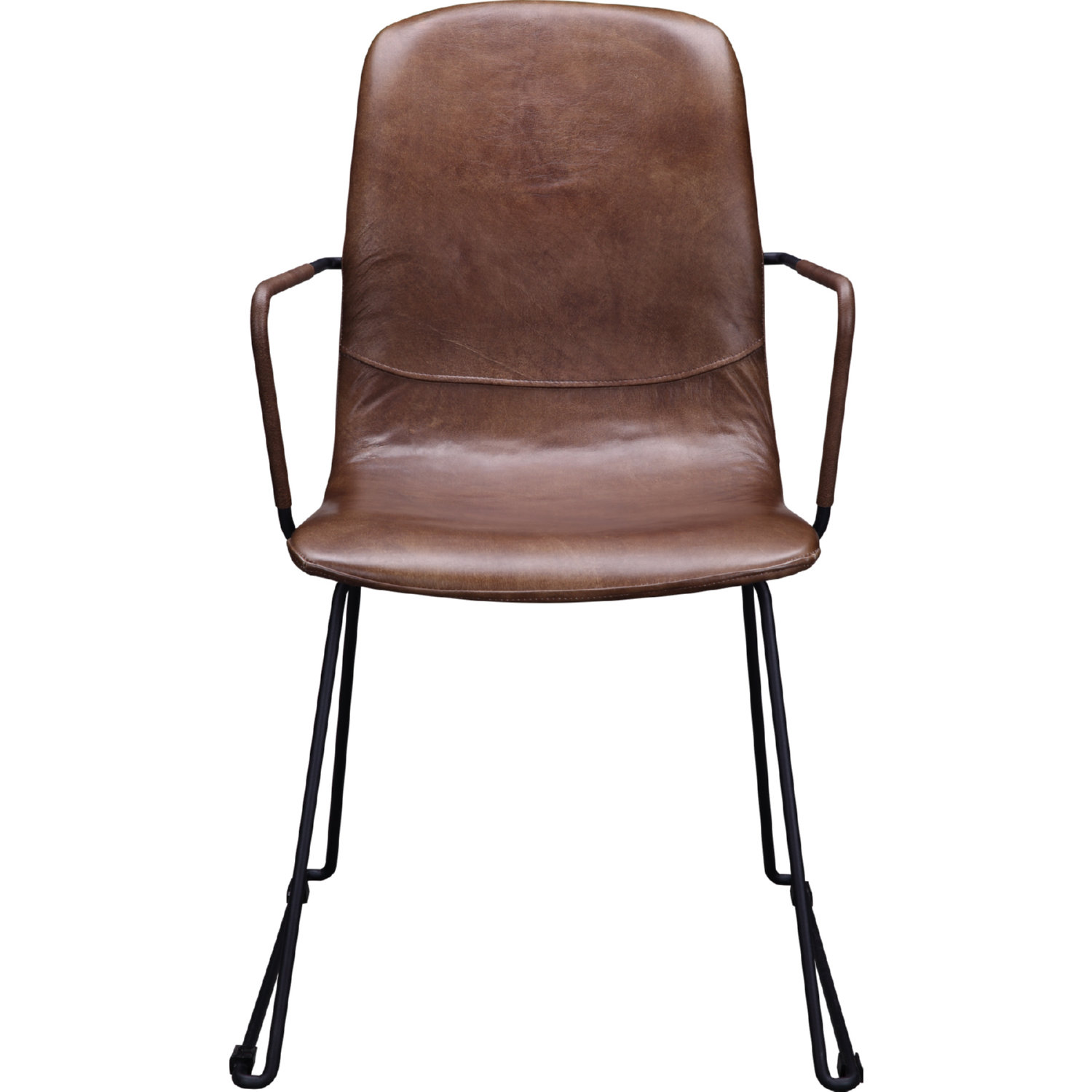 Incredible Bo Dining Chair In Brown Top Grain Leather Iron By Moes Home Collection Gmtry Best Dining Table And Chair Ideas Images Gmtryco