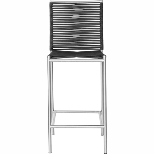Incredible Brynn Outdoor Bar Stool In Black Poly Rope On Stainless Steel By Moes Home Collection Ibusinesslaw Wood Chair Design Ideas Ibusinesslaworg