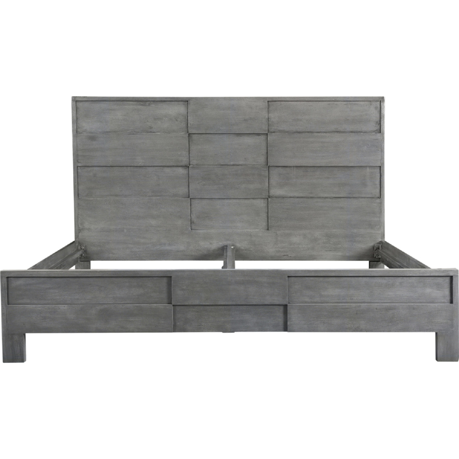 Sensational Felix King Bed In Grey Acacia Wood By Moes Home Collection Caraccident5 Cool Chair Designs And Ideas Caraccident5Info