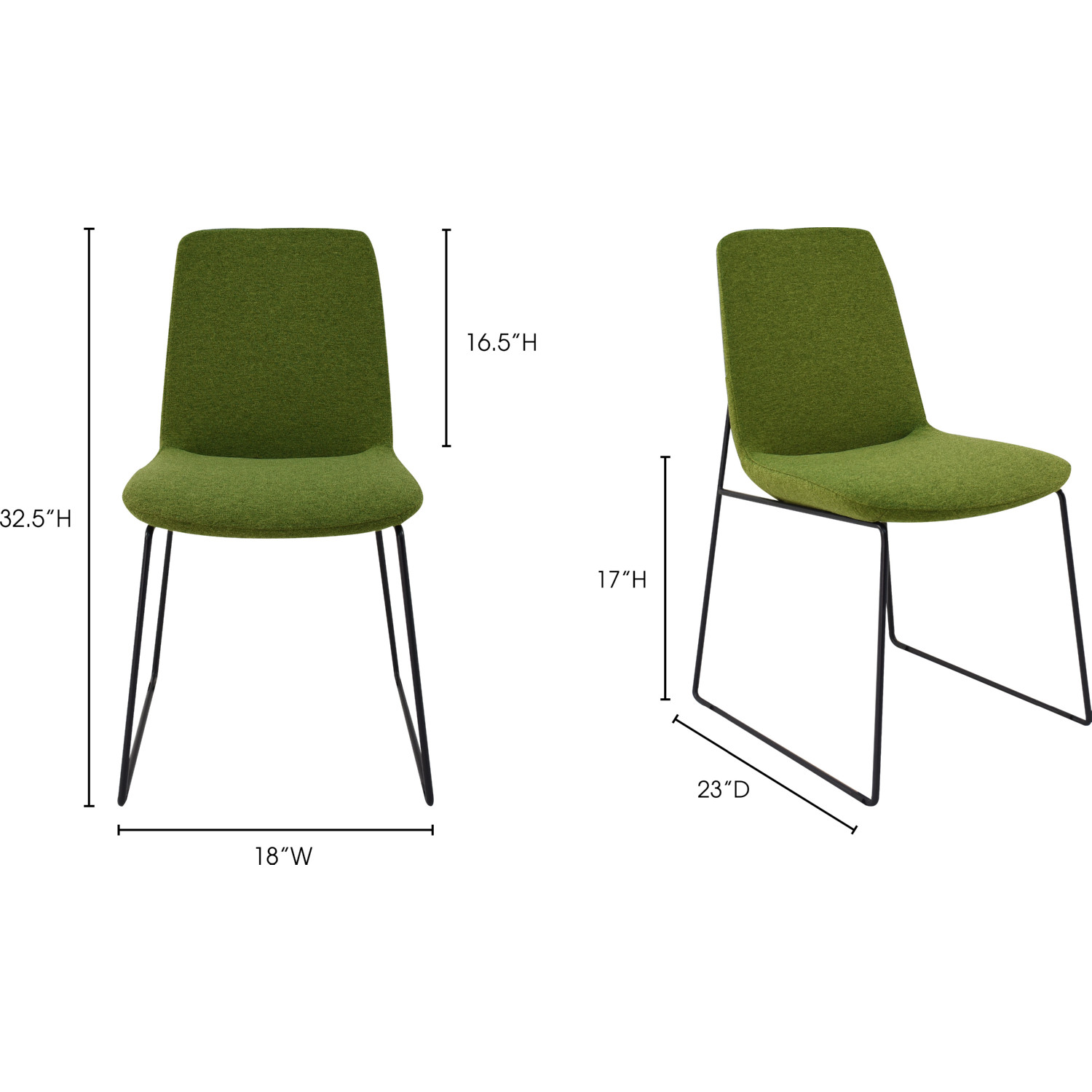 Wondrous Ruth Dining Chair In Green Fabric On Steel Frame Set Of 2 By Moes Home Collection Bralicious Painted Fabric Chair Ideas Braliciousco