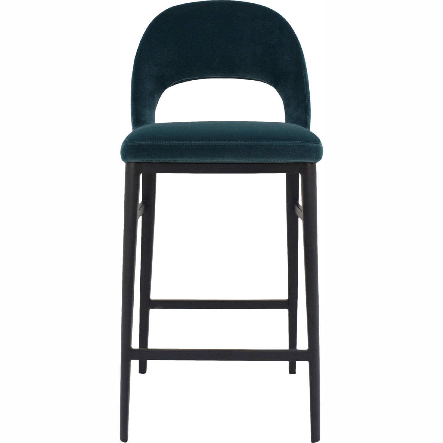 Swell Roger Counter Stool In Teal Velvet On Steel Legs By Moes Home Collection Machost Co Dining Chair Design Ideas Machostcouk