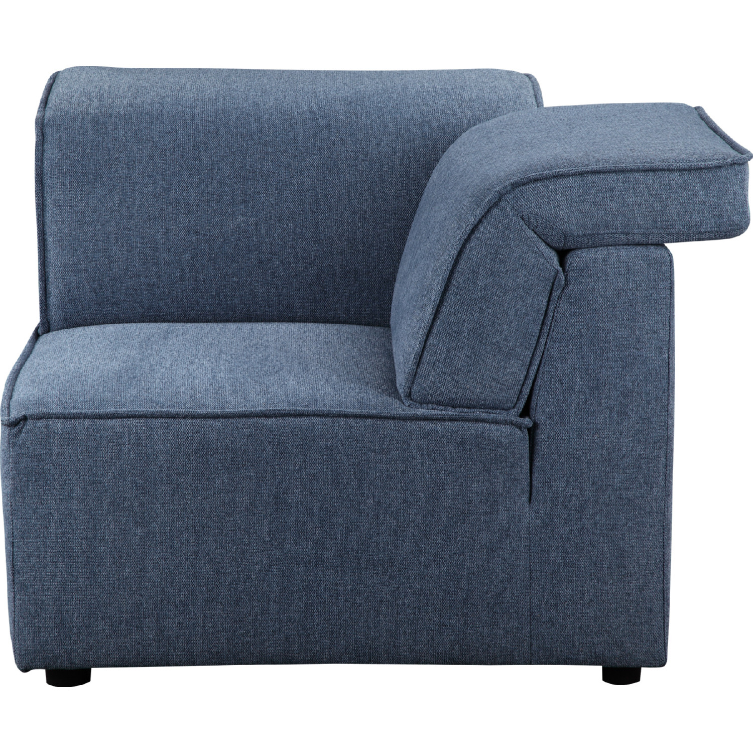 Rodeo Corner Sectional Sofa Unit In Navy Blue Fabric By Moe S Home Collection