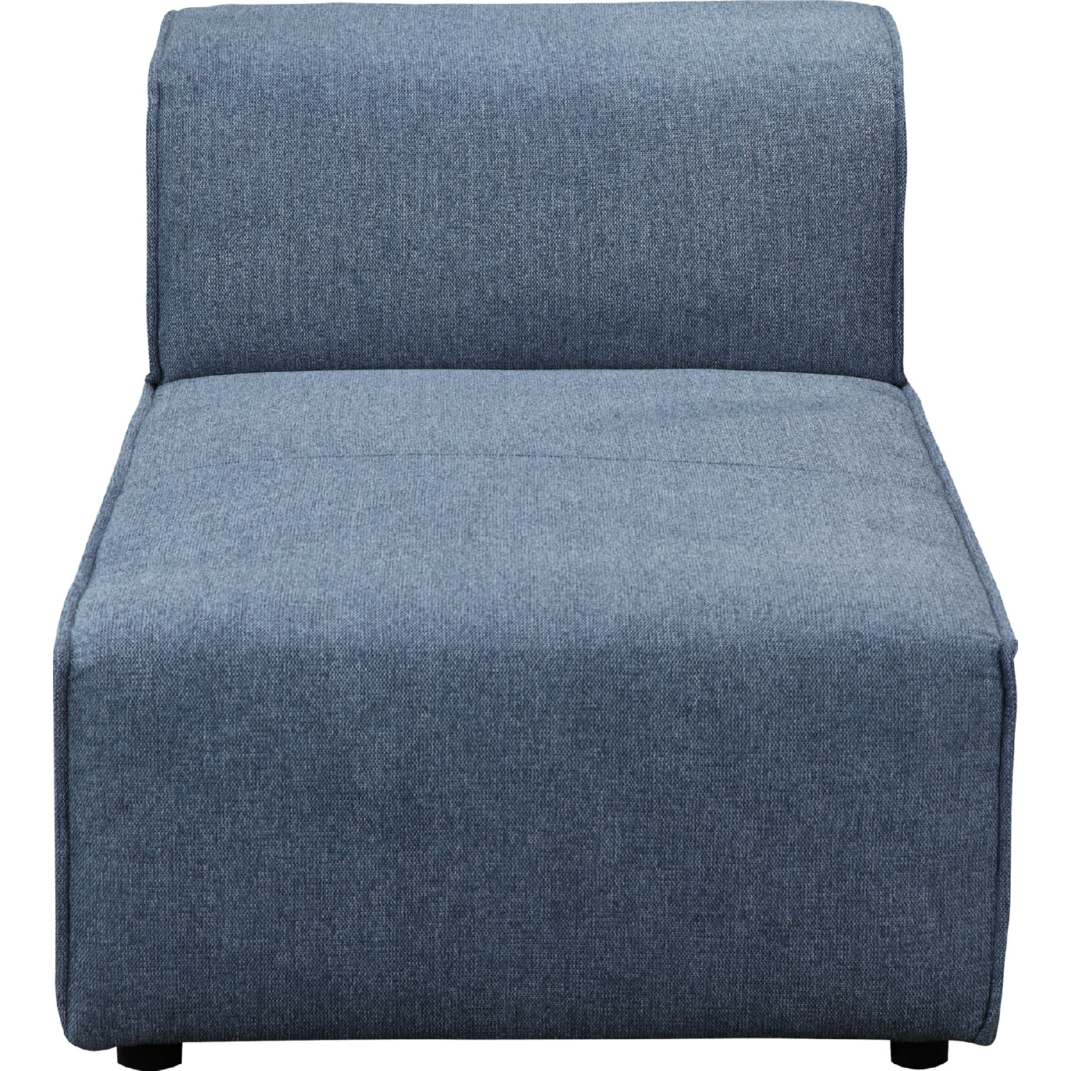 Rodeo Chaise Sectional Sofa Unit In Navy Blue Fabric By Moe S Home Collection