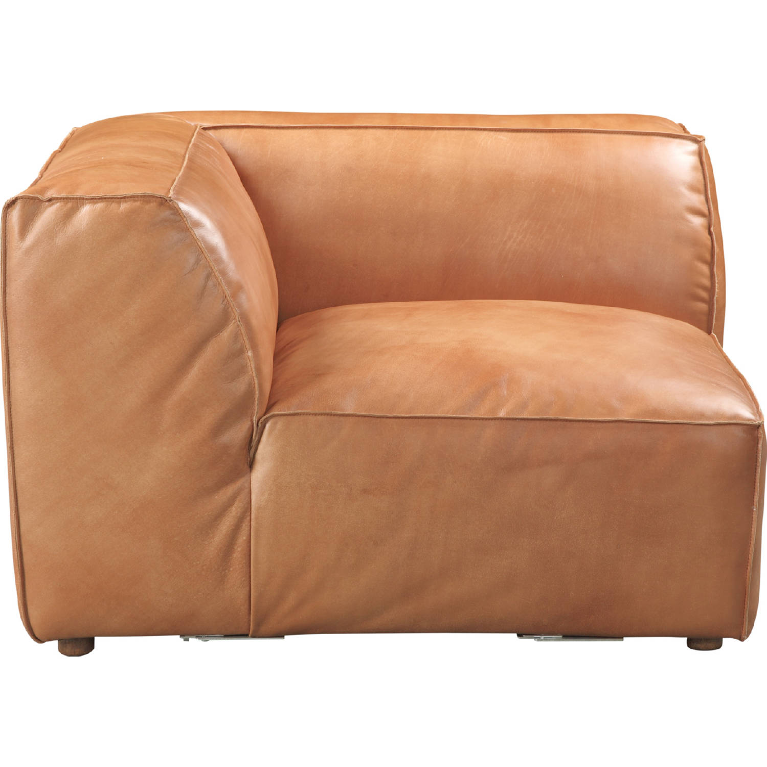 Brilliant Luxe Corner Chair Sectional Sofa Unit In Tan Top Grain Leather By Moes Home Collection Gmtry Best Dining Table And Chair Ideas Images Gmtryco