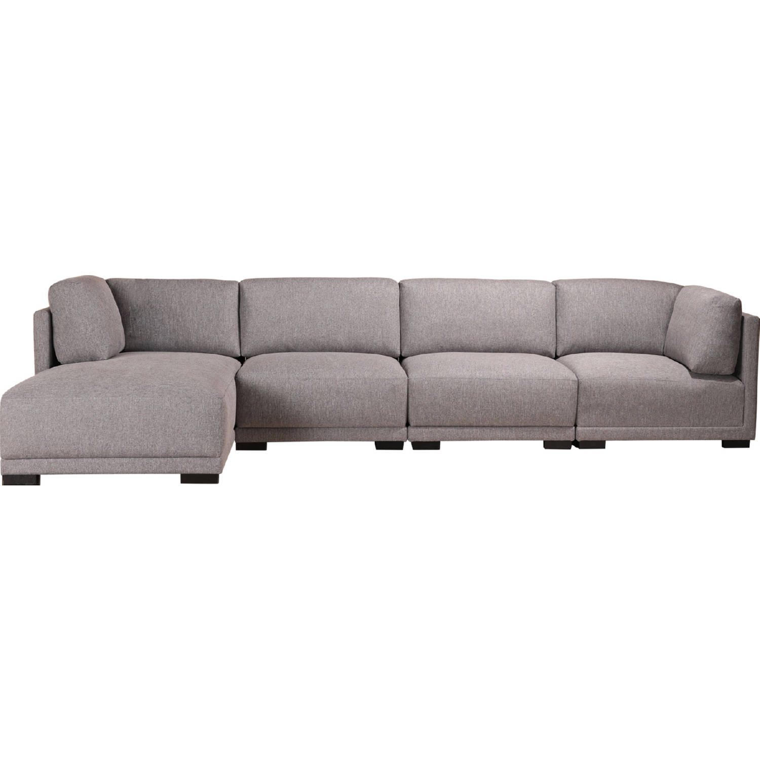 Fantastic Romeo Modular Sectional Sofa W Left Chaise In Grey Fabric By Moes Home Collection Theyellowbook Wood Chair Design Ideas Theyellowbookinfo
