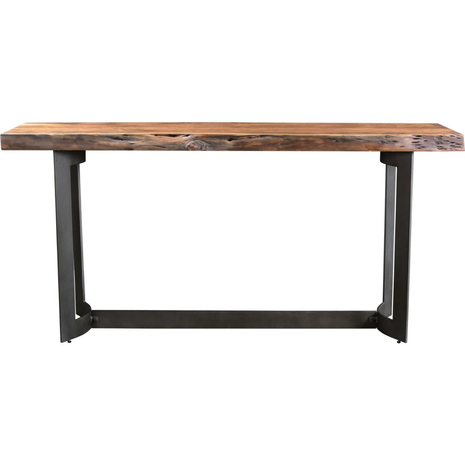 Pleasing Bent Console Table In Smoked Acacia On Iron By Moes Home Collection Caraccident5 Cool Chair Designs And Ideas Caraccident5Info