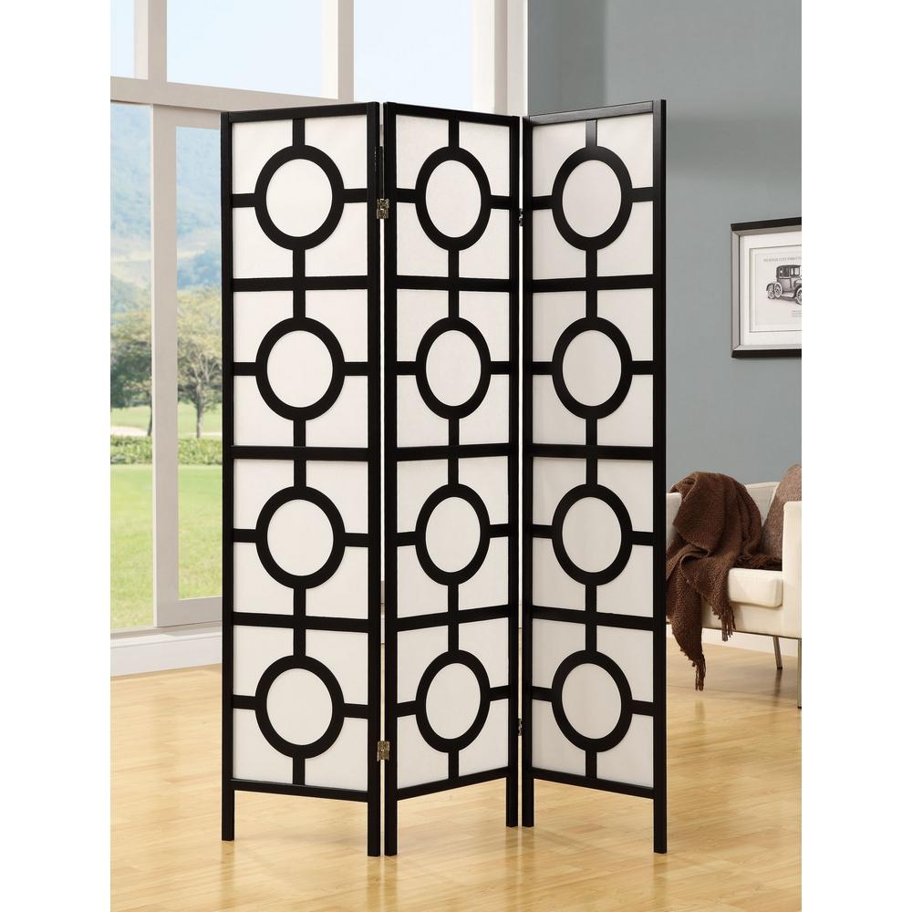 Monarch specialties i 4619 black frame 3 panel circle for Black diamond motorized screen price