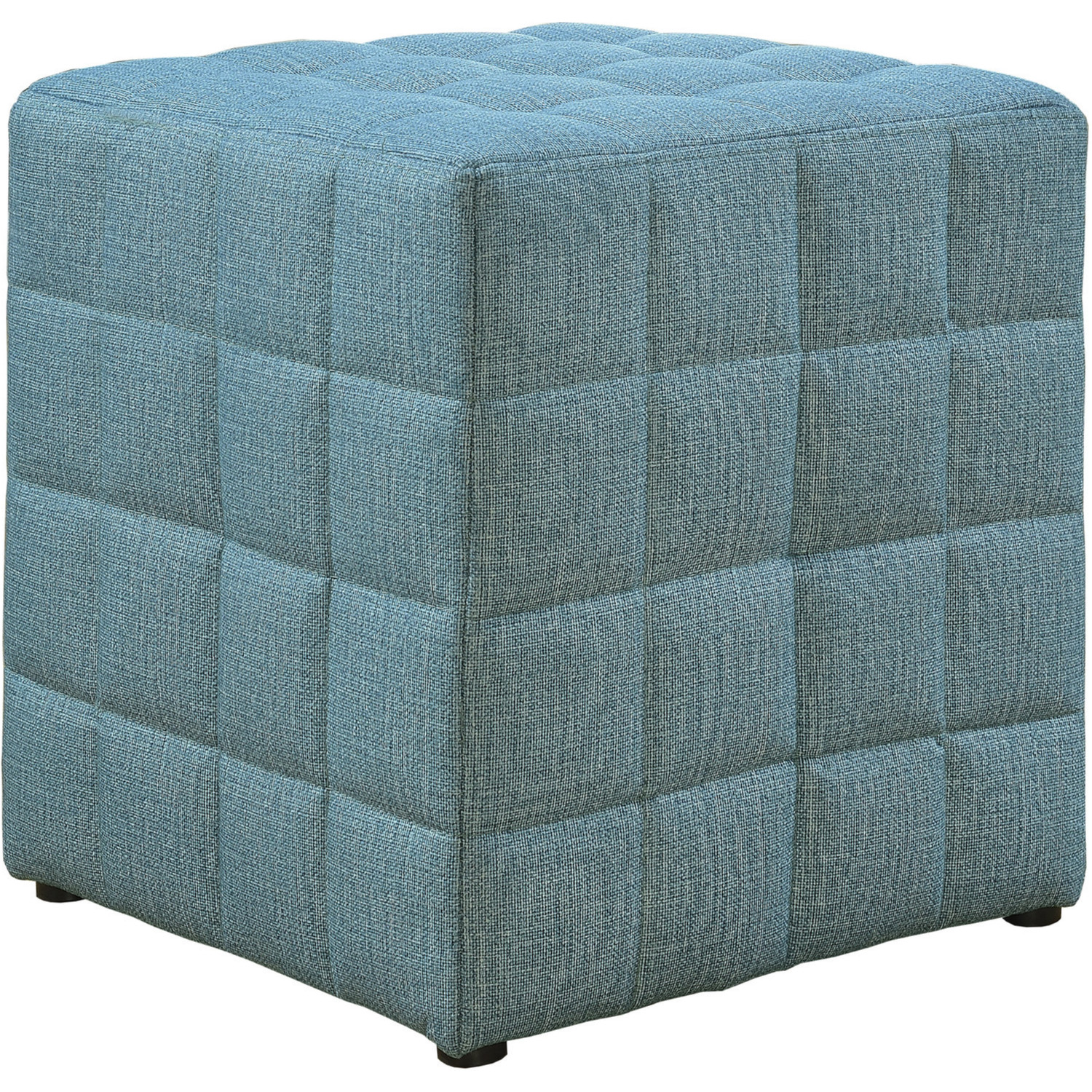 Magnificent Ottoman In Tufted Light Blue Linen Look Fabric By Monarch Specialties Gmtry Best Dining Table And Chair Ideas Images Gmtryco