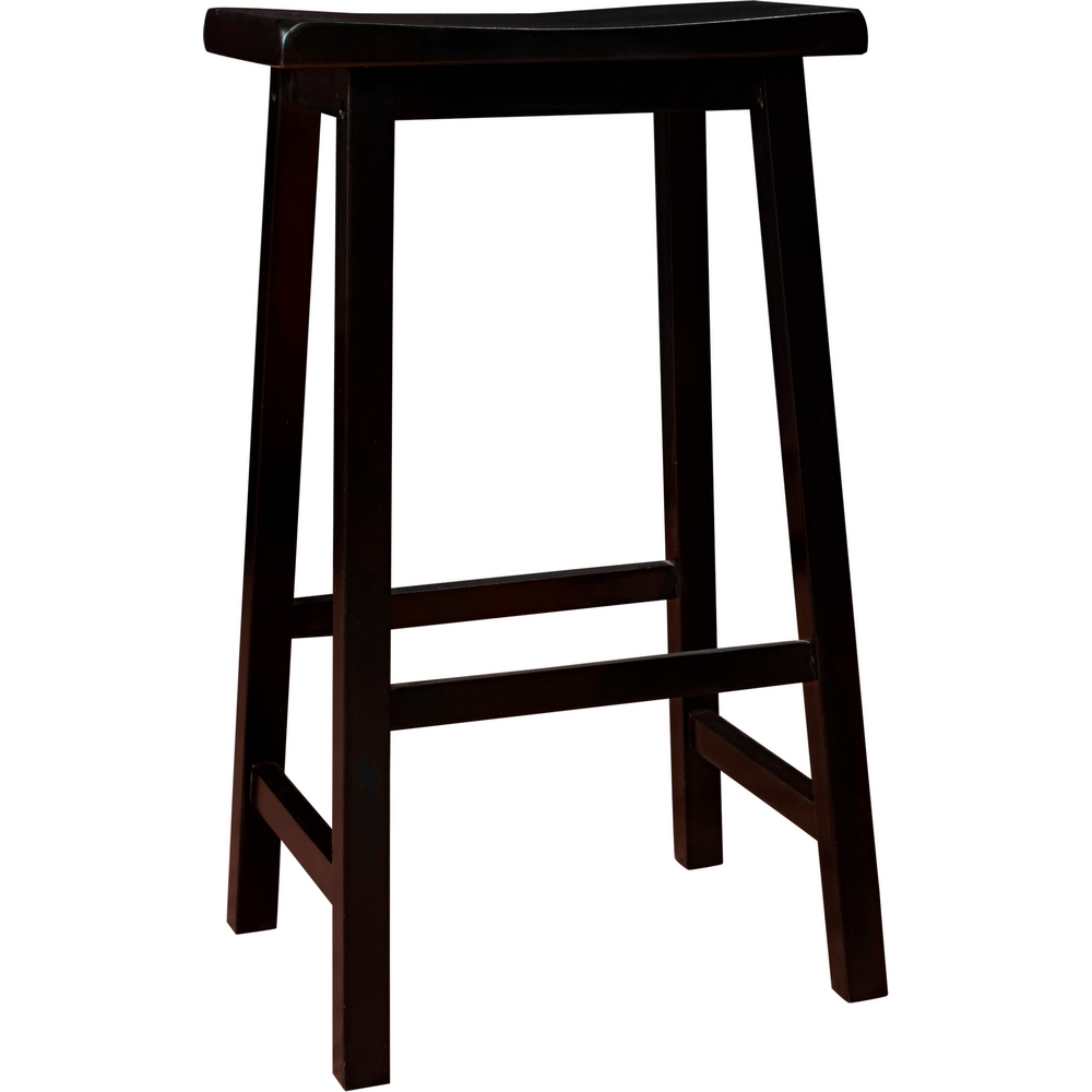 Black Saddle Seat Bar Stool 29 Home Decorators Saddle