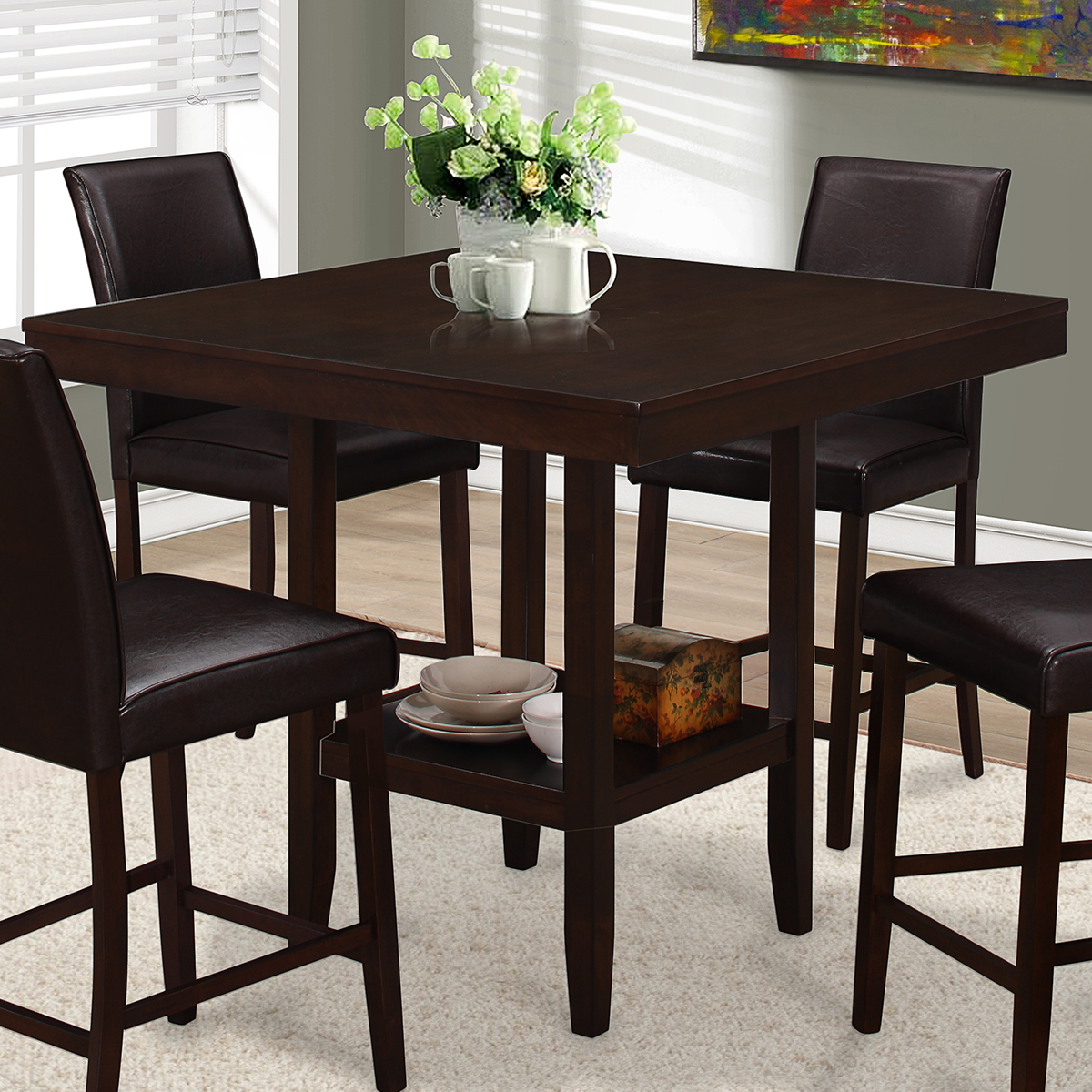 Monarch Specialties I 1900 Dining Table 42 Quot Square Counter
