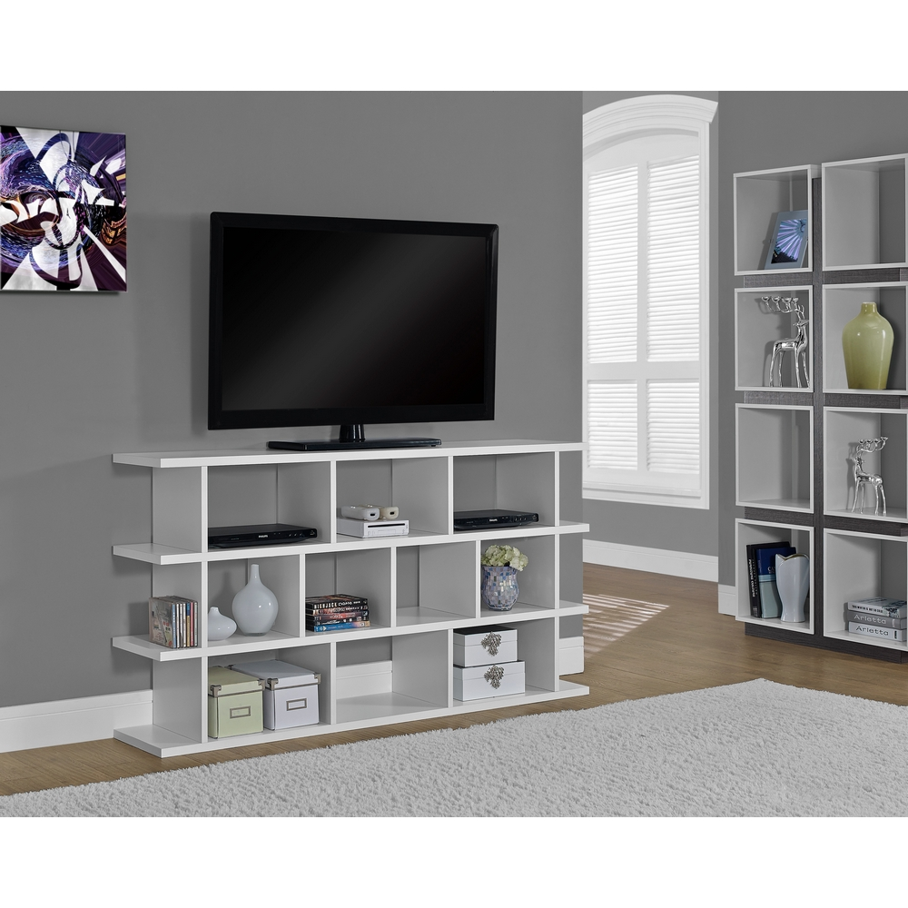 White 60 Tv Stand Or Horizontal Vertical Bookcase