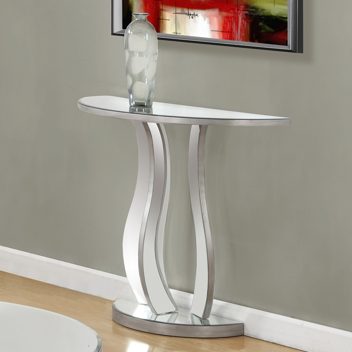 Monarch Specialties I 3727 36 Quot Console Table In Brushed