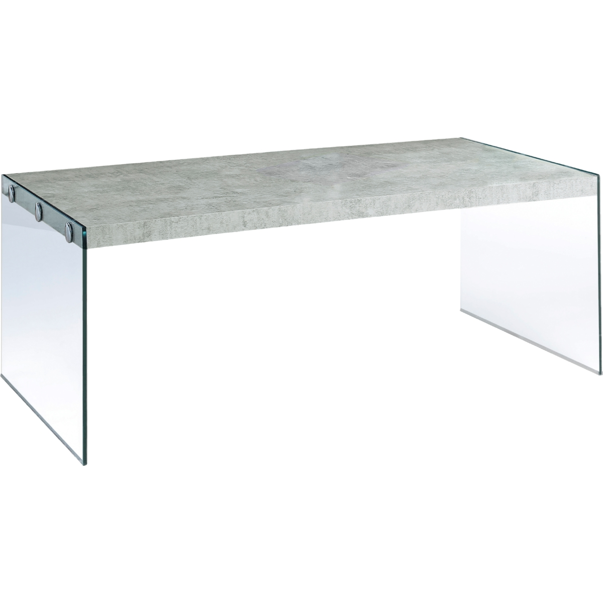 Monarch Specialties I 3230 Coffee Table in Grey Cement Look w