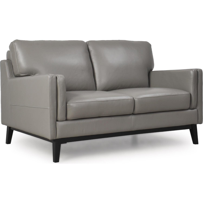 Wondrous Osman All Leather Mid Century Loveseat In Storm Dark Grey By Moroni Fine Leather Furniture Inzonedesignstudio Interior Chair Design Inzonedesignstudiocom