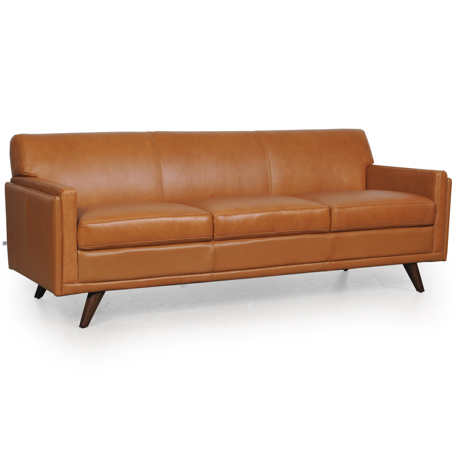 Milo Mid Century Sofa In Tan Leather By Moroni Fine Leather Furniture