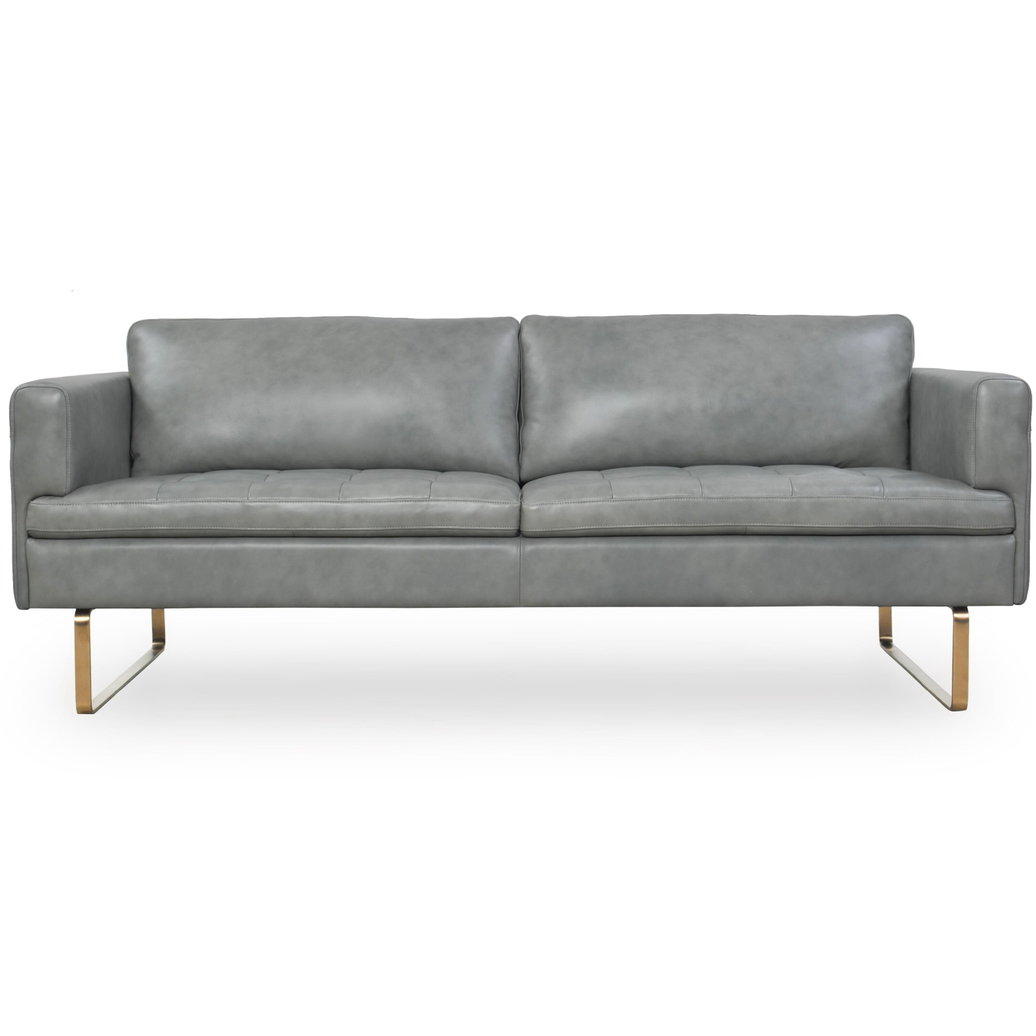 Strange Frensen Sofa In Cloud Grey Top Grain Leather On Copper Legs By Moroni Fine Leather Furniture Machost Co Dining Chair Design Ideas Machostcouk
