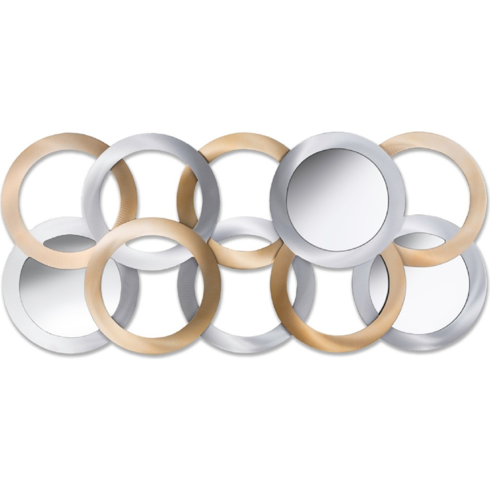 elements skyline wall mirrors 12inch set of 3 silver and gol