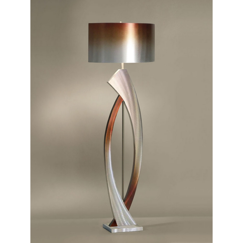 High Quality Nova Swerve Floor Lamp In Brushed Aluminum