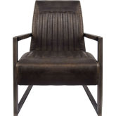 Phenomenal Jonah Arm Chair In Rubbed Brown Leatherette On Distressed Bronze Unemploymentrelief Wooden Chair Designs For Living Room Unemploymentrelieforg