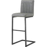 Remarkable Ronan Bar Stool In Channel Tufted Antique Gray Leatherette Unemploymentrelief Wooden Chair Designs For Living Room Unemploymentrelieforg