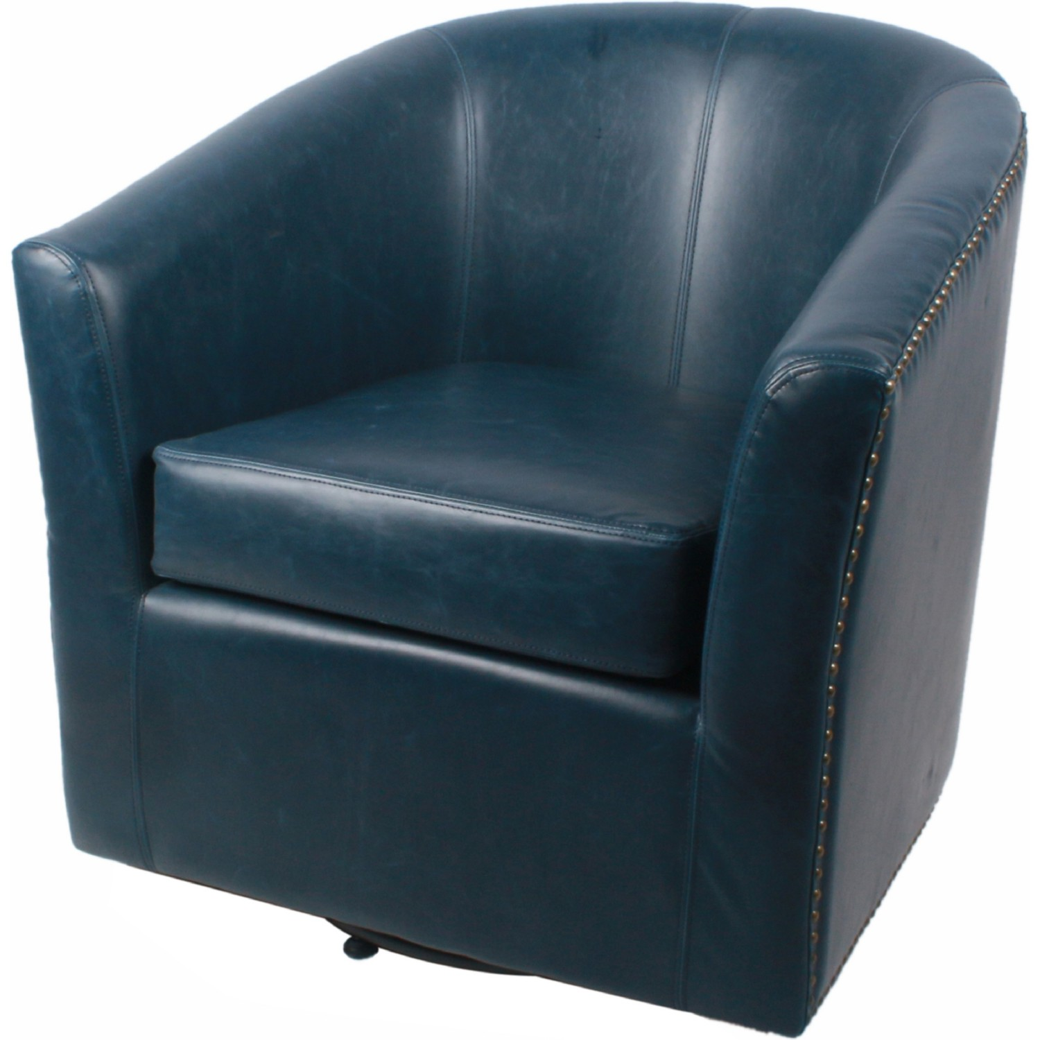 Npd 1900046 V05 Ernest Swivel Accent Chair In Vintage Blue