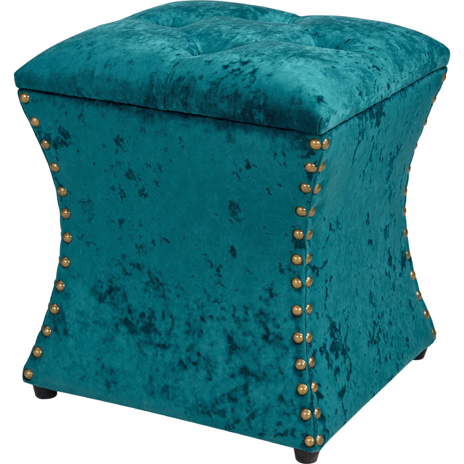Astounding Amelia Storage Ottoman In Tufted Blue Velvet W Nailhead By New Pacific Direct Ocoug Best Dining Table And Chair Ideas Images Ocougorg