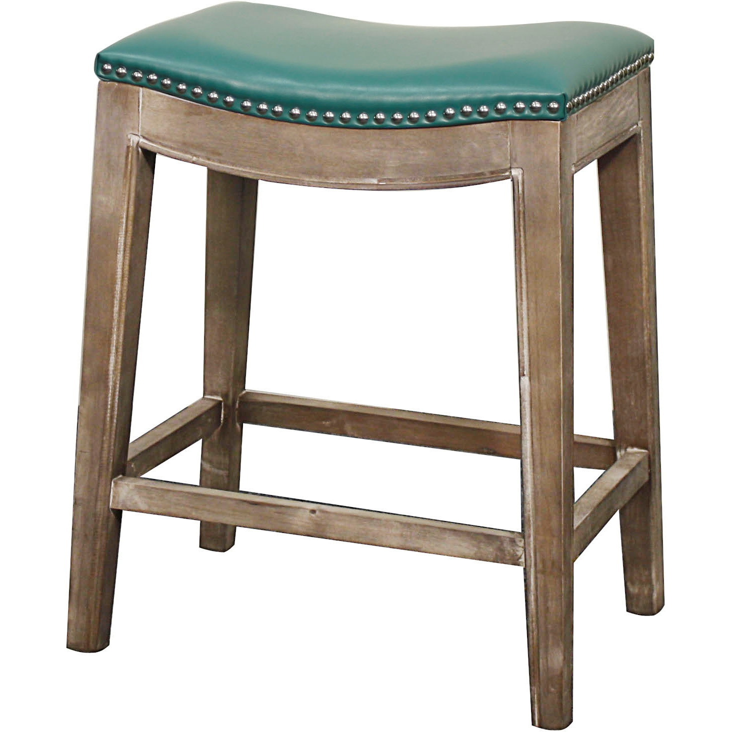 Npd 198625b 323 Elmo Counter Stool In Turquoise Bonded