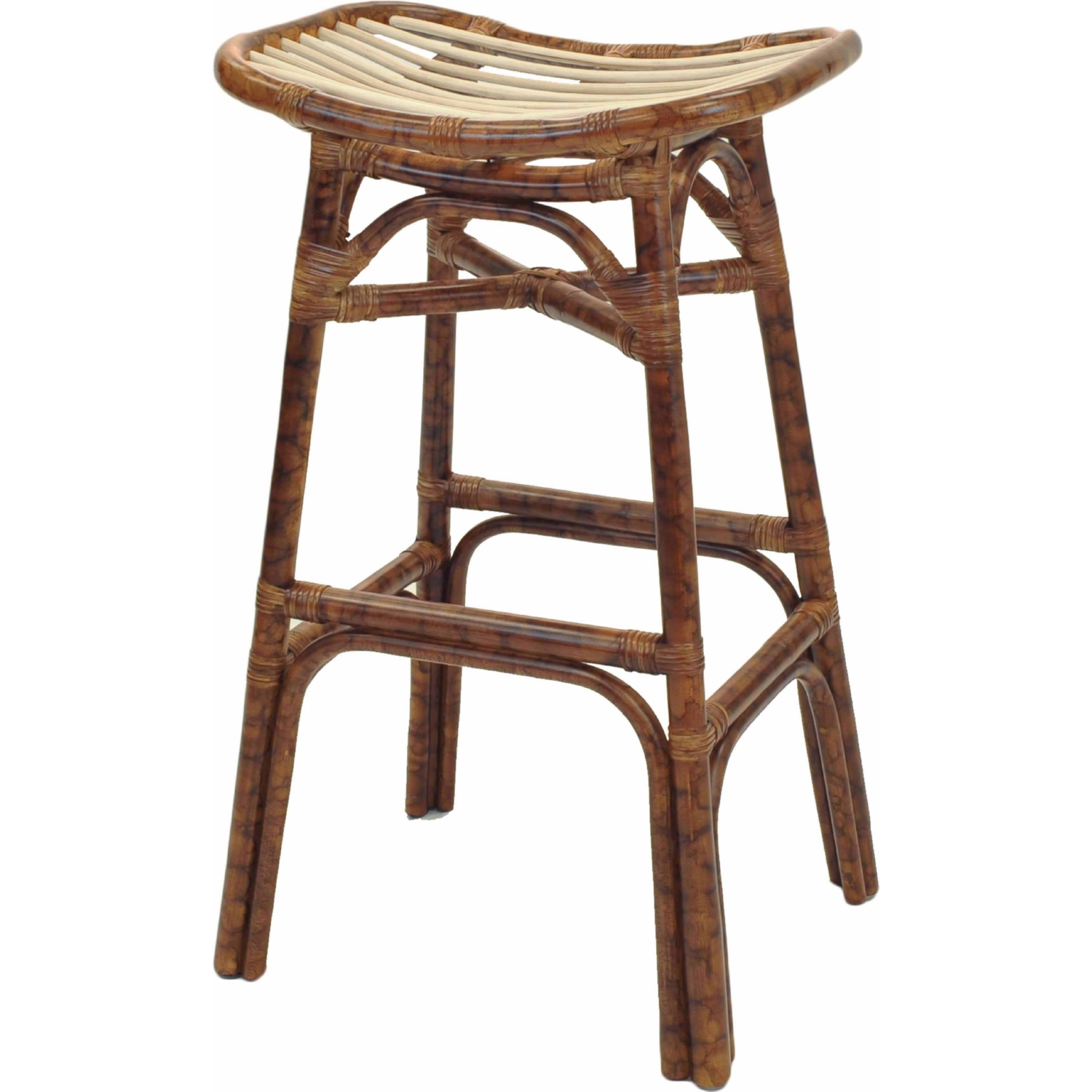 New Pacific Direct 2400006 Beyla Bar Stool In Marble Brown
