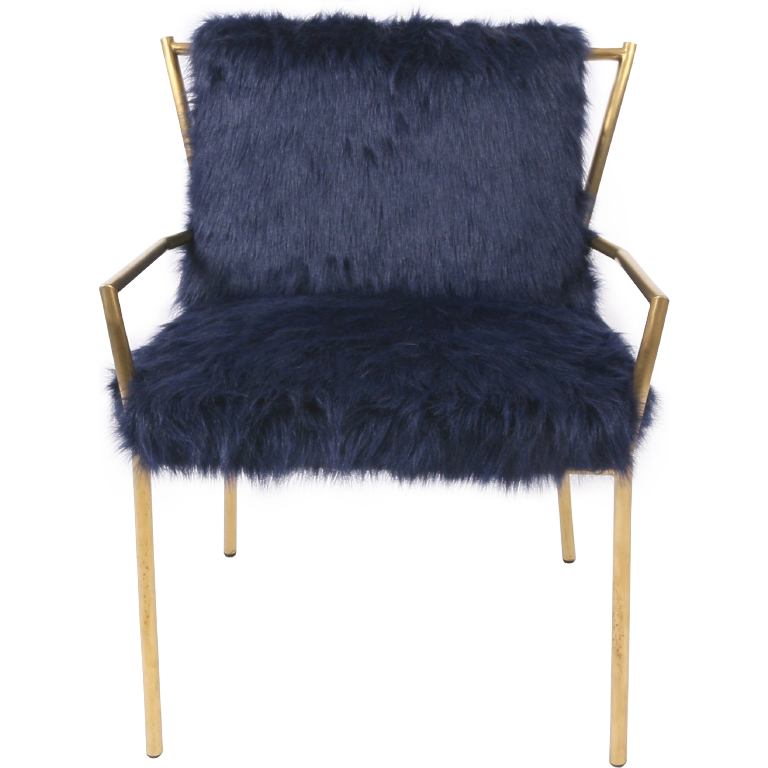 New Pacific Direct F2 Duffy Accent Chair in Navy Blue Faux