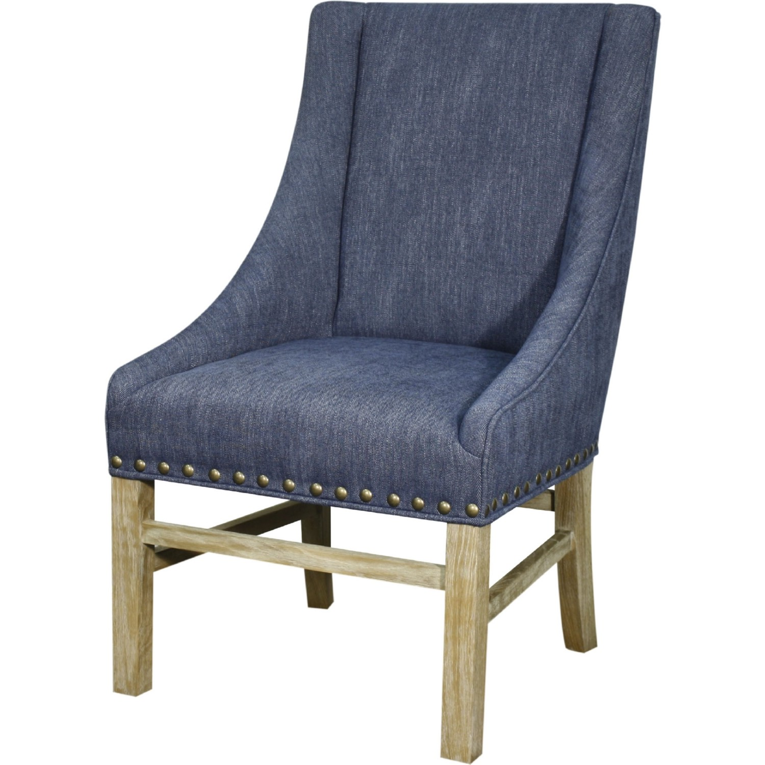 New Pacific Direct 393038 105 Aaron Dining Chair In Blue Coast Fabric W Nail