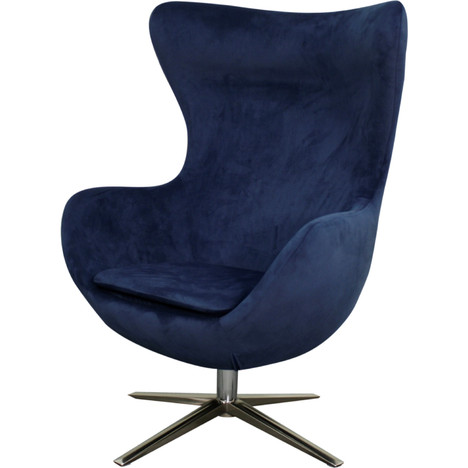 Strange Finn Swivel Accent Chair In Midnight Blue Fabric On Chrome Legs By New Pacific Direct Unemploymentrelief Wooden Chair Designs For Living Room Unemploymentrelieforg