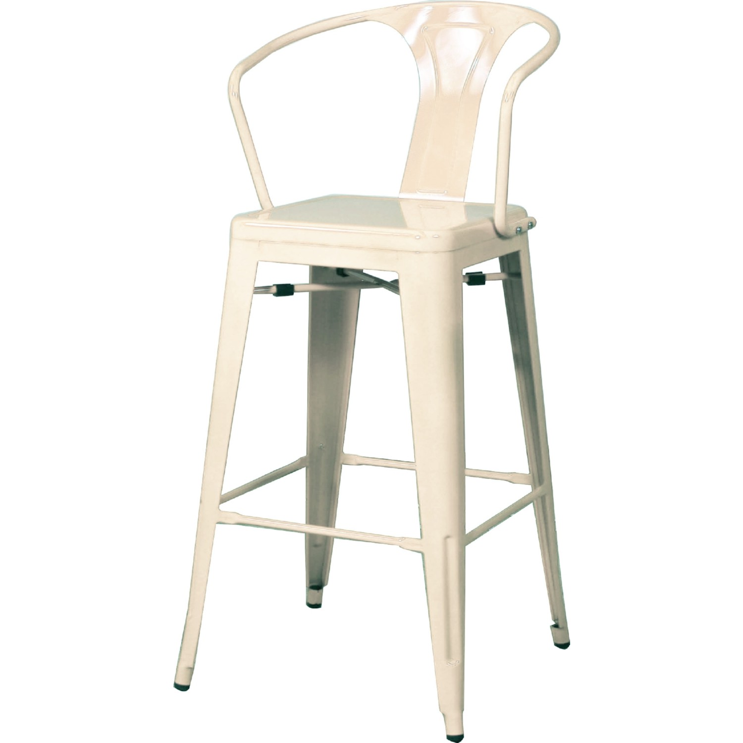Terrific Metropolis Metal Counter Stool In White Powder Coated Steel Set Of 4 By New Pacific Direct Pabps2019 Chair Design Images Pabps2019Com