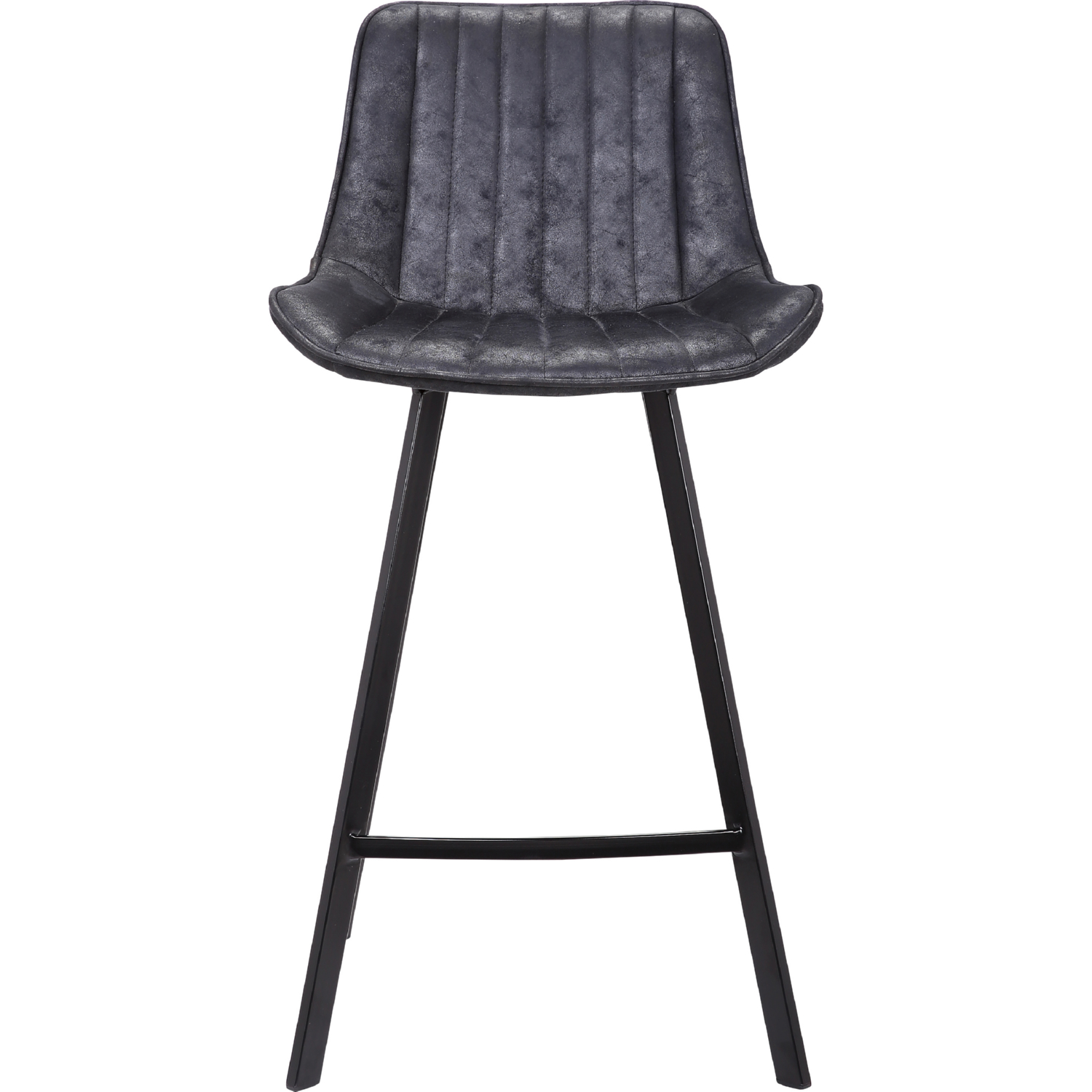 Surprising Bastian Counter Stool In Channel Tufted Lustrous Black Leatherette By New Pacific Direct Lamtechconsult Wood Chair Design Ideas Lamtechconsultcom