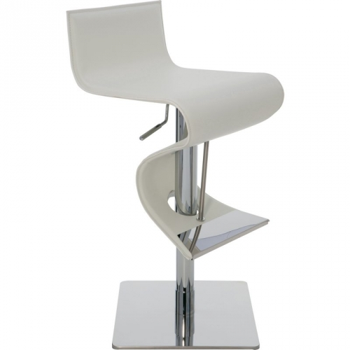 Enjoyable Portland Adjustable Height Bar Or Counter Stool In White Top Grain Italian Leather By Nuevo Modern Furniture Unemploymentrelief Wooden Chair Designs For Living Room Unemploymentrelieforg