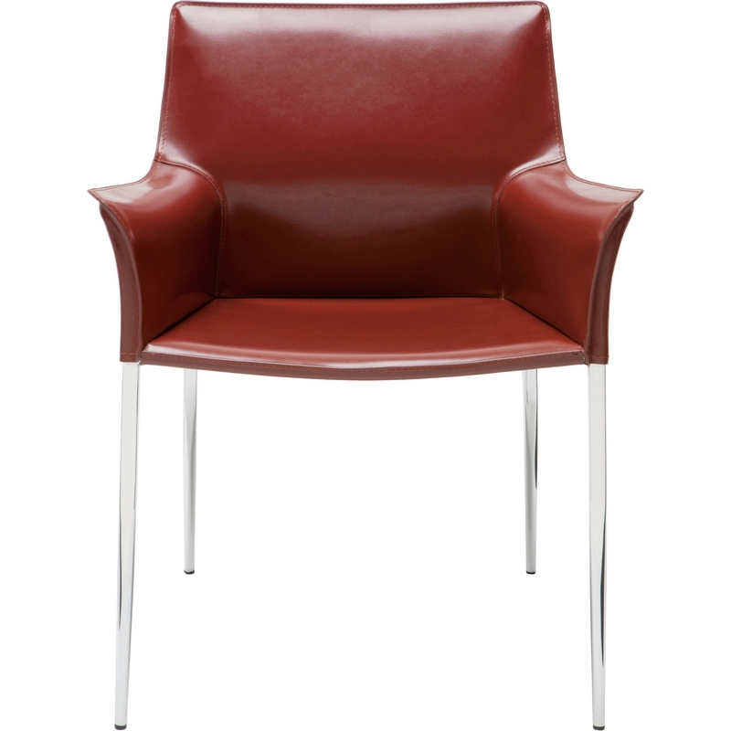 nuevo modern furniture hgar400 colter arm dining chair in bordeaux