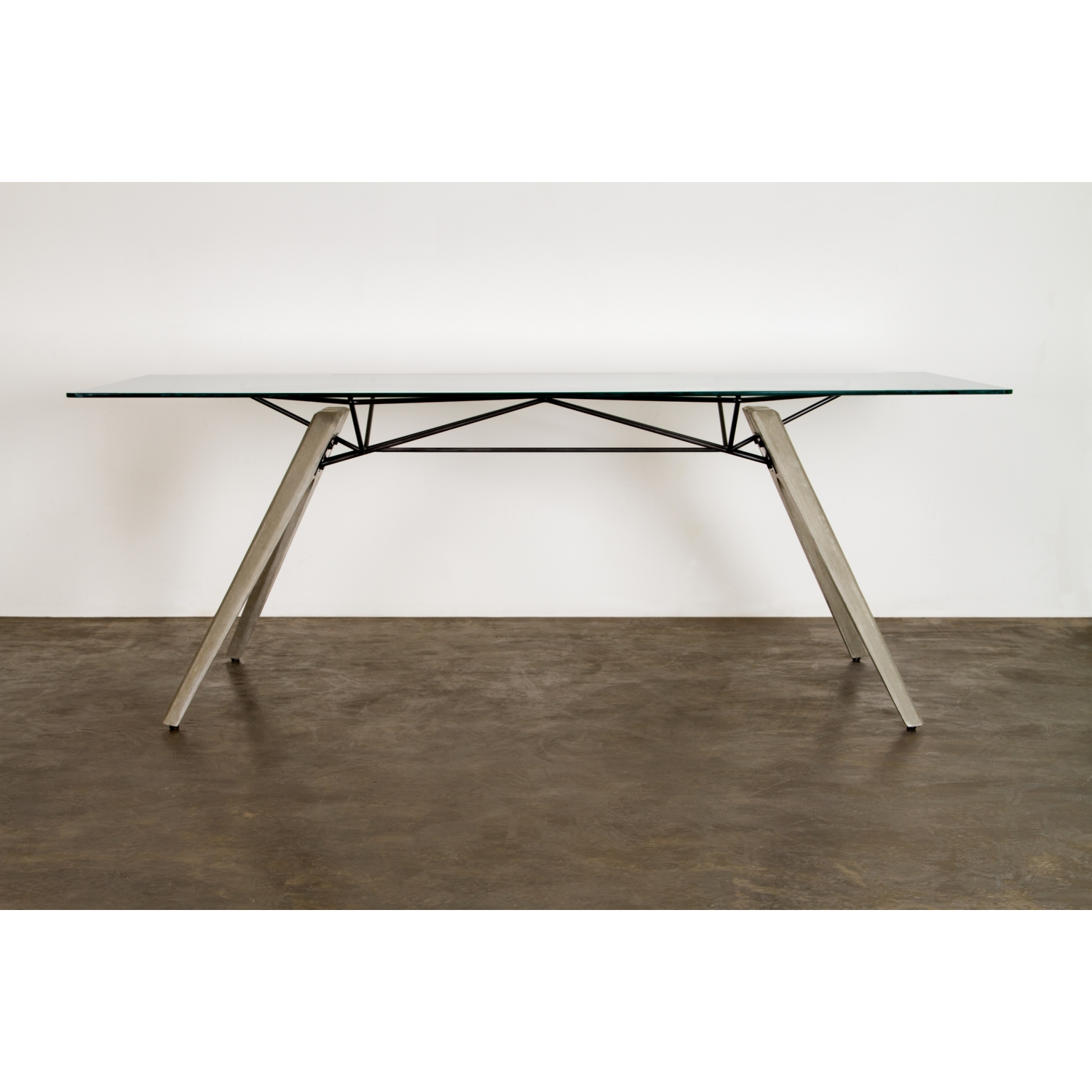 Concrete Top Dining Tables Nuevo Modern Furniture Hgda491 Kahn 94 Dining Table In Concrete
