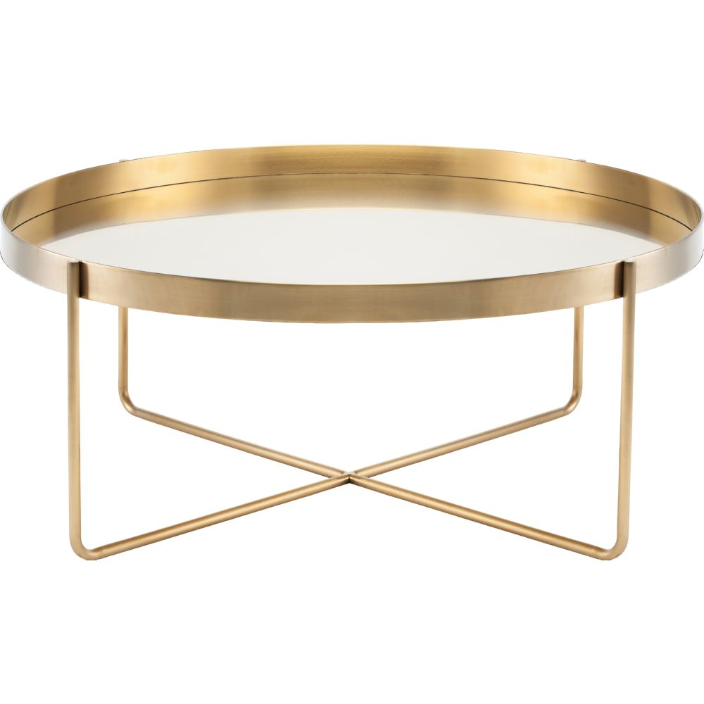 Coffee Table Tray Gold: Nuevo HGDE122 Gaultier Oval Tray Style Coffee Table In
