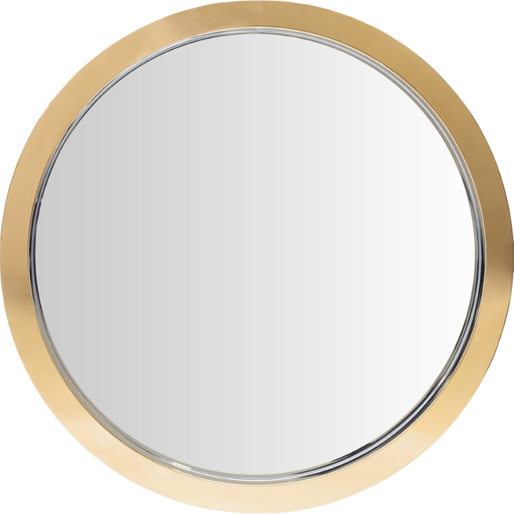 Small entryways maximizing storage space in your small for Large round gold mirror