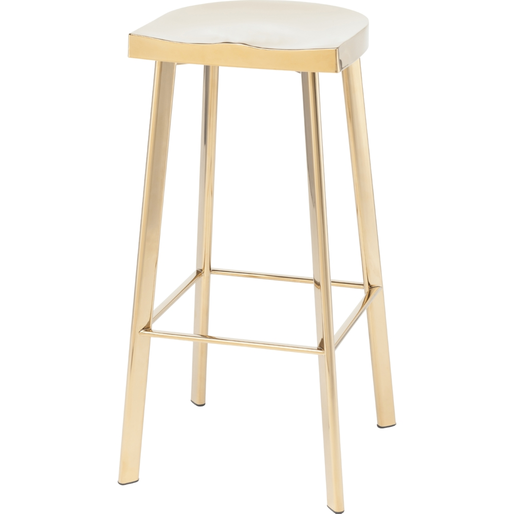 Nuevo Modern Furniture Hgde233 Icon Bar Stool In Polished