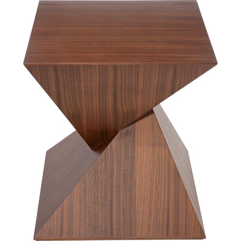 Nuevo Modern Furniture Giza Square Side Table In Tan Walnut