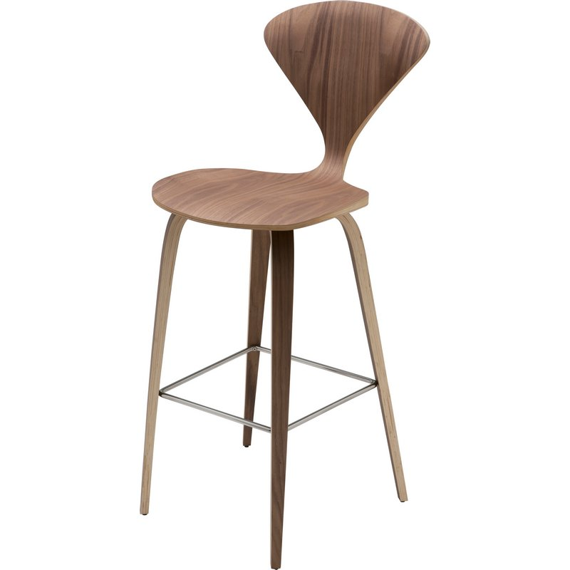 Superb Satine Counter Height Stool In American Walnut Veneer In Natural Walnut By Nuevo Modern Furniture Inzonedesignstudio Interior Chair Design Inzonedesignstudiocom
