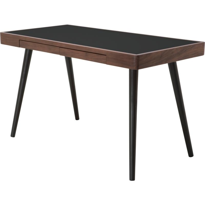 Nuevo Modern Furniture Matt Desk In American Walnut W Black Base