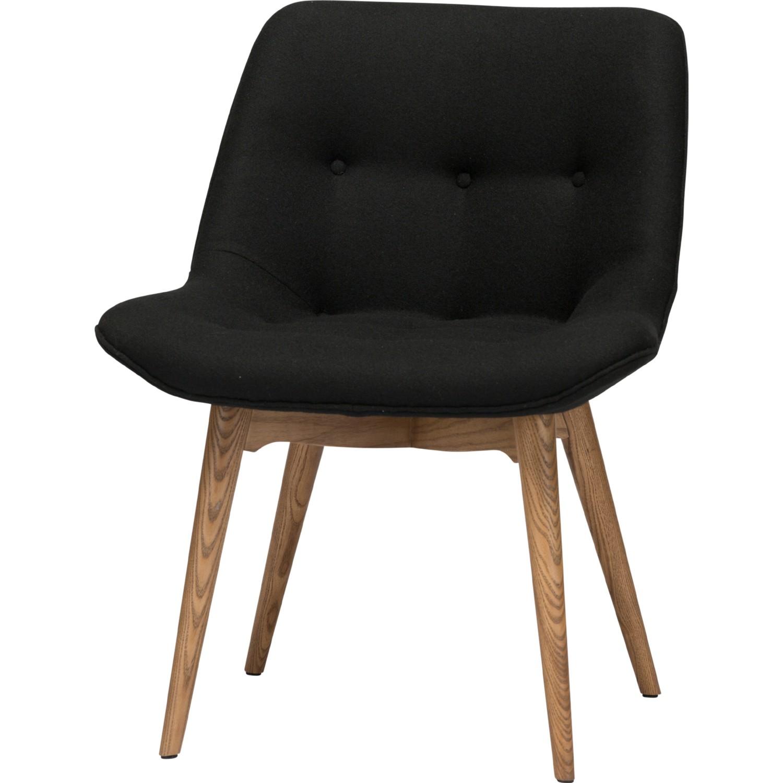 Nuevo Modern Furniture HGEM643 Brie Dining Chair in Tufted Black