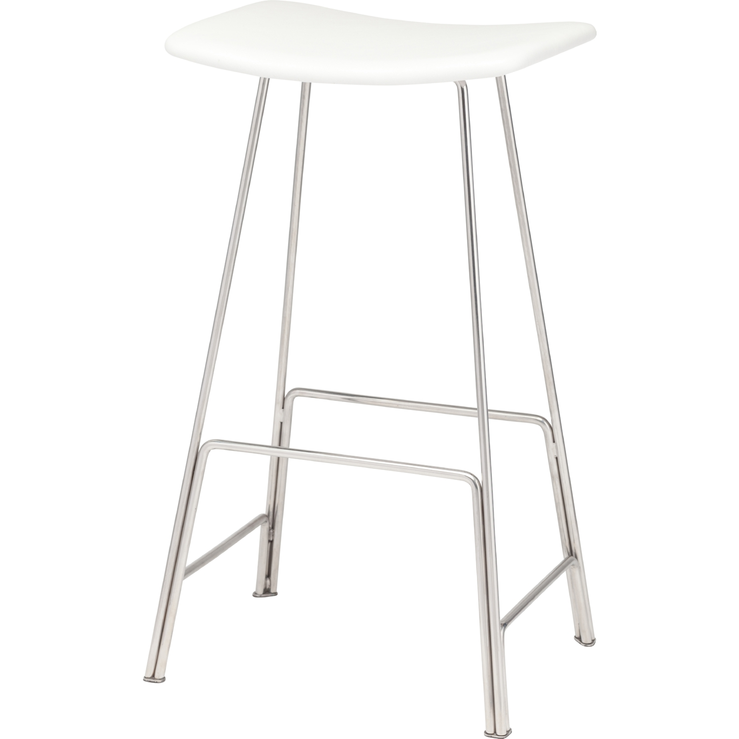 Remarkable Kirsten Counter Stool W White Leather Seat On Stainless Steel Base W Footrests By Nuevo Modern Furniture Pabps2019 Chair Design Images Pabps2019Com