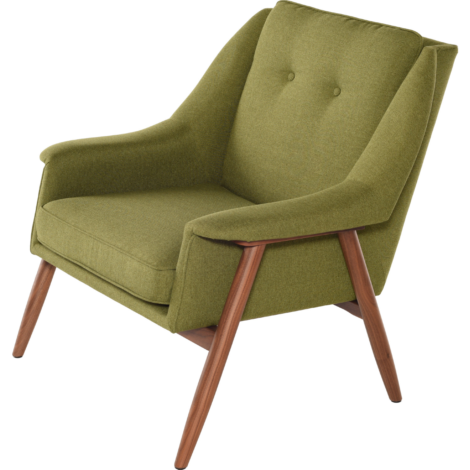 Pleasant Grace Accent Chair In Olive Fabric On Walnut Frame By Nuevo Modern Furniture Squirreltailoven Fun Painted Chair Ideas Images Squirreltailovenorg