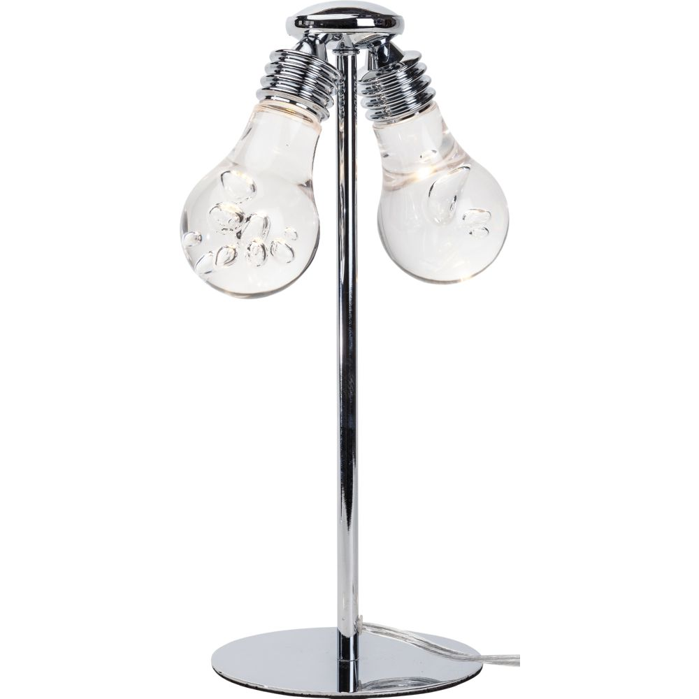 Awesome Florian Table Lamp W/ 2 Clear Light Bulb Shaped Shades