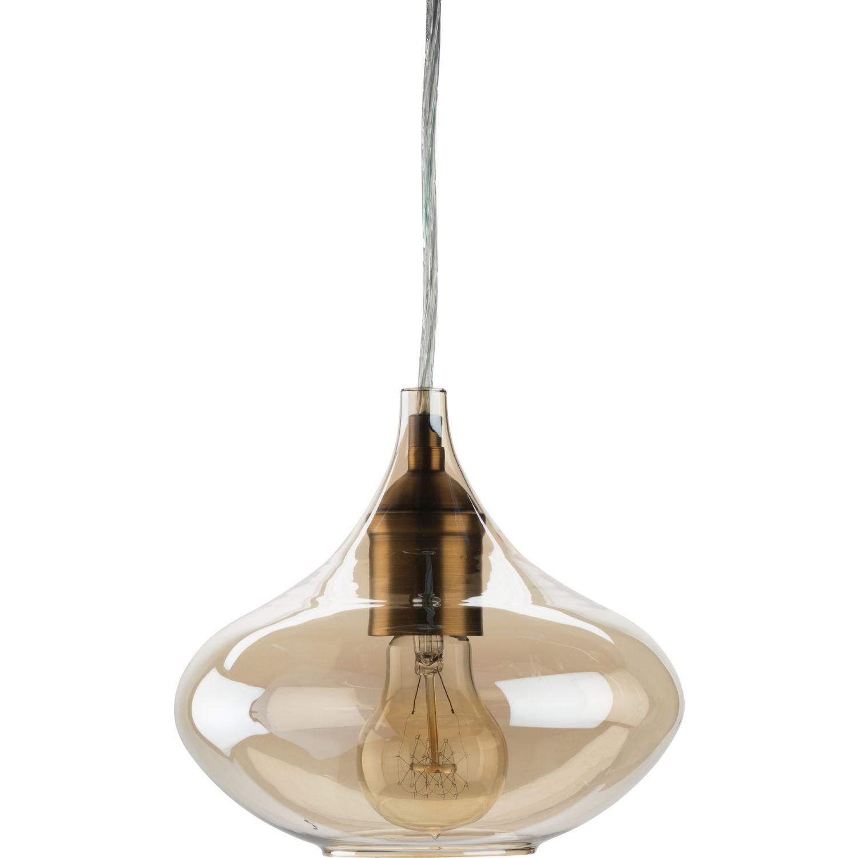 Nuevo Modern Furniture Jasper Ceiling Pendant Light In Champagne Glass U0026  Antique Brass