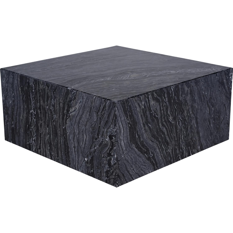 Nuevo modern furniture hgmm161 matisse coffee table in black marble