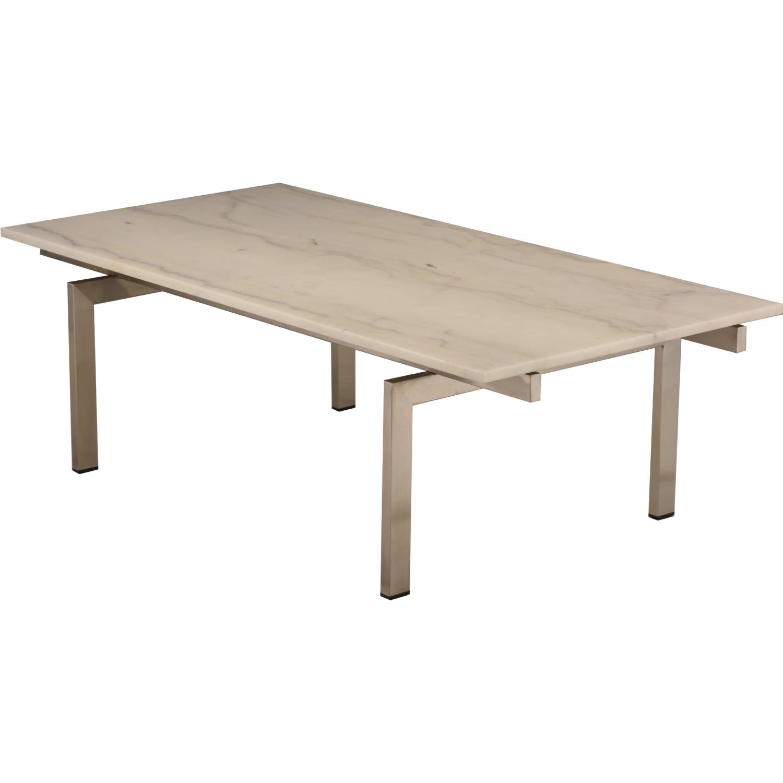 Nuevo Modern Furniture HGNA Louve Coffee Table W White Marble - Nuevo marble coffee table